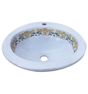 Lavabo ovalado con agujero