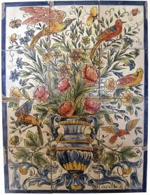 Mural flores en color