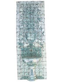Mural jarrón fuente