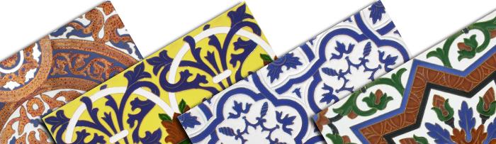 Sevillian relief tiles