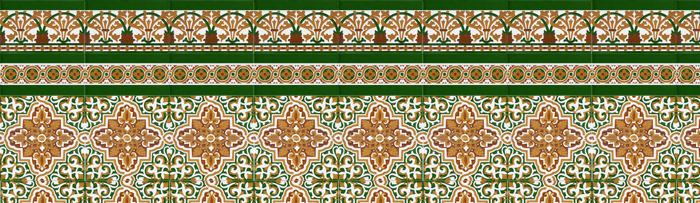 Sevillian colour mosaics